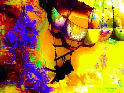 Digital Art - Parasailing by Carrie OBrien Sibley