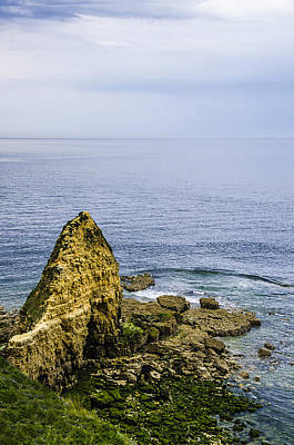 Art Print featuring the photograph Pointe Du Hoc by Marta Cavazos-Hernandez
