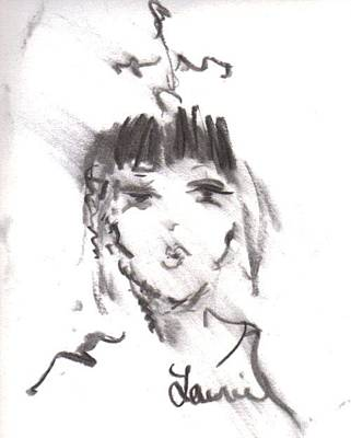 Drawing - Queen Of Kisses by Laurie L