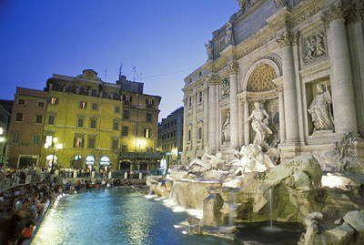 The Trevi Fountain And Palazzo Poli Print by Richard Nowitz