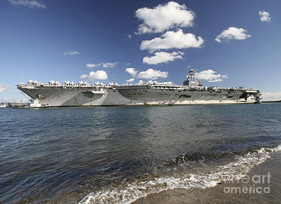 Politicians Royalty-Free and Rights-Managed Images - Uss Abraham Lincoln Returning To Port by Michael Wood