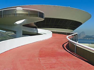 Contemporary Art Museum Niteroi Brazil Art Print by George Oze