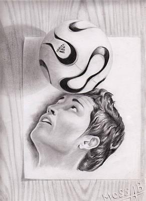 Cristiano Ronaldo Drawing -  Cristiano Ronaldo by Mossab Guerroumi