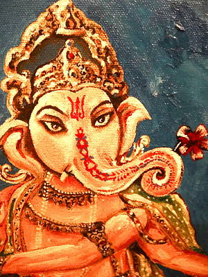 Ganesh Art Print by Sabrina Phillips
