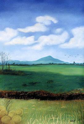 Art Print featuring the pastel Hermit's Peak by Jan Amiss