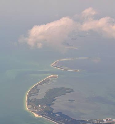 Arial Photograph - Honeymoon Island by Peter  McIntosh