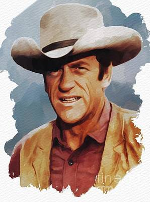 Musicians Royalty-Free and Rights-Managed Images - James Arness, Actor by Mary Bassett