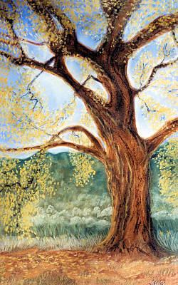 Pastel - Jemez Cottonwood by Jan Amiss