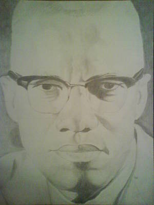 Drawing - Malcolm X by Milton  Gore