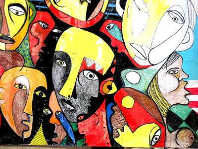 Robert Daniels Drawing - Multicultural II by Robert Daniels