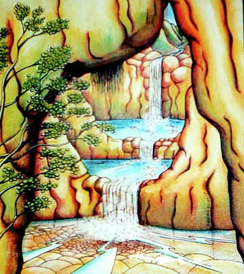 Painting - Prosperity Waterfall 1 by Barbara Stirrup