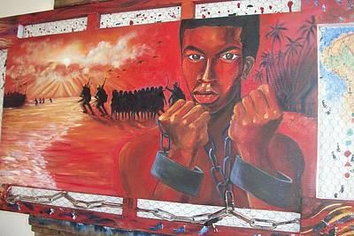 Roots Of Slavery Art Print by Leon Salako
