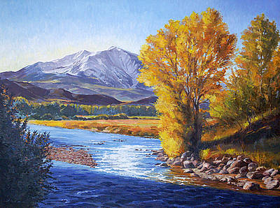 Rivers In The Fall Painting - September Sopris Morning by Shawn Shea