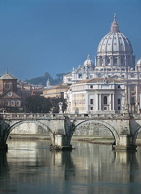 Vatican Photograph - St Peters Basilica, Rome, Italy by Martin Child