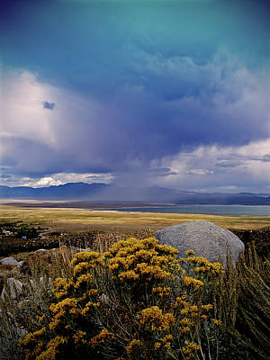 Crowley Lake Photograph - Storm Cell Over Crowley Lake by Tina Slee