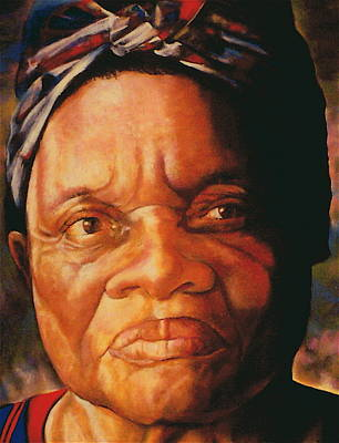Artist Curtis James Pastel - The Gaze Of Mother Witt by Curtis James
