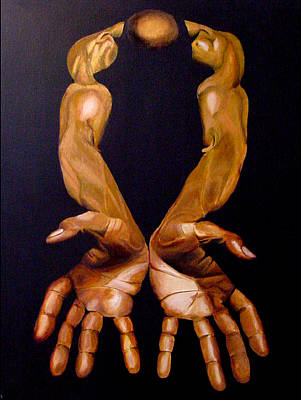 The Hands Of A Body Builder Art Print