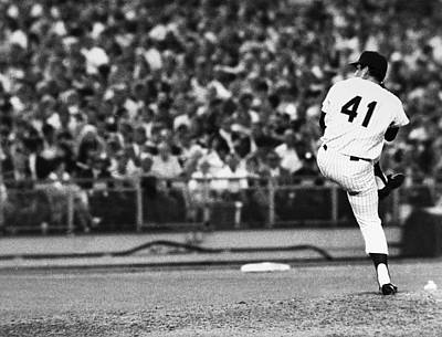 Shea Stadium Photograph - Tom Seaver (1944- ) by Granger