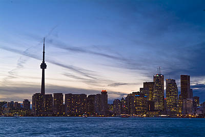View From Islands Of Skyline Toronto Art Print by Richard Nowitz