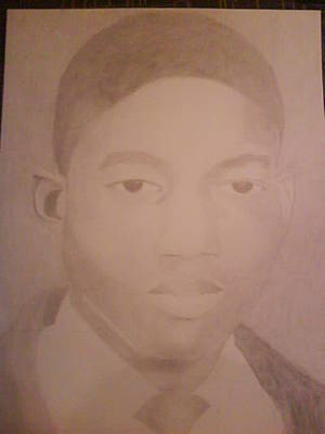 Drawing - Young Man by Milton  Gore