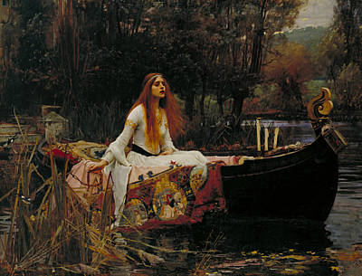 Arthurian Painting - The Lady Of Shalott by John William Waterhouse