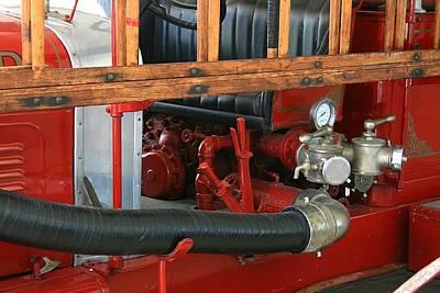 Photograph - 1928 Studebaker Fire Engine 1 by David Dunham
