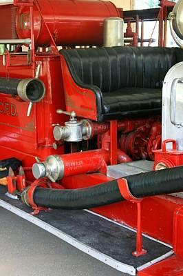 Photograph - 1928 Studebaker Fire Engine 2 by David Dunham