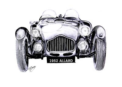 Sportscar Drawing - 1952 Allard by Terence John Cleary