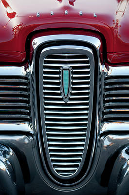 Photograph - 1959 Edsel Corsair Convertible Grille by Jill Reger