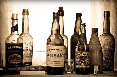 Photograph - 19th Century Liquor Bottles  by Levin Rodriguez