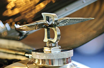Hood Ornament Photograph - 1927 Bentley 6.5 Litre Sports Tourer Hood Ornament by Jill Reger