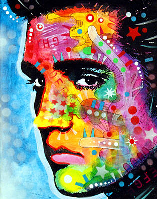 Art Print featuring the painting Elvis Presley by Dean Russo