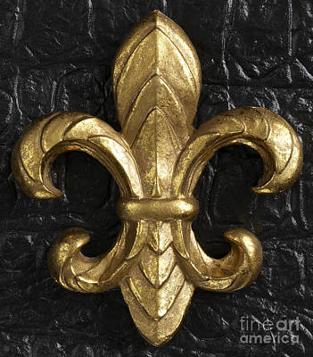 Lilies Royalty-Free and Rights-Managed Images - Gold Fleur-di-lis by Tony Cordoza