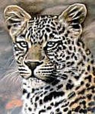 Painting - Leopard by Riek  Jonker