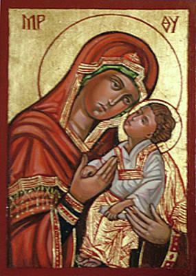 Byzantine Painting - Madonna by Filip Mihail