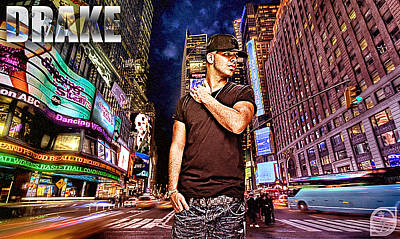 D77 Digital Art - Street Phenomenon Drake by The DigArtisT