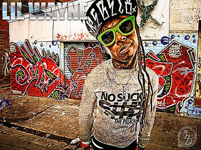 Rapper Digital Art - Street Phenomenon Lil Wayne by The DigArtisT