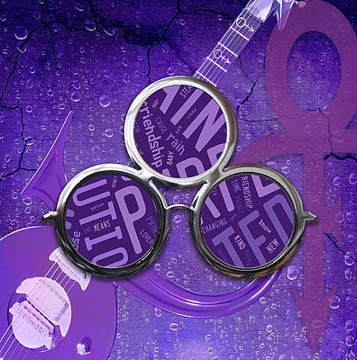 Mixed Media - Prince Purple Rain by Marvin Blaine