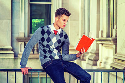 Photograph - American College Student Studying In New York by Alexander Image
