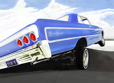Royalty-Free and Rights-Managed Images - 64 Impala Lowrider by Colin Tresadern