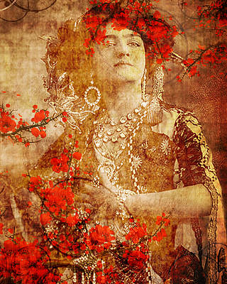 Winsome Woman Art Print by Chris Andruskiewicz