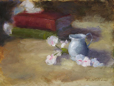 Silver Pitcher Painting - A Little Silver Jug by Keiko Richter