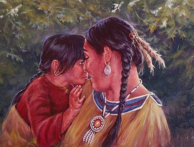 A Mother's Love Art Print by Ed Breeding