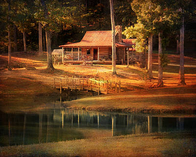 Log Cabin Photograph - A Place To Dream by Jai Johnson
