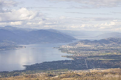 Kelowna Photograph - A View Of The City Of Kelowna by Taylor S. Kennedy