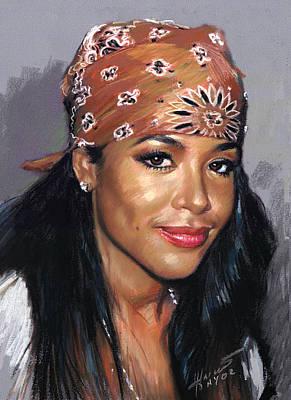 Aaliyah Dana Haughton Art Print by Ylli Haruni