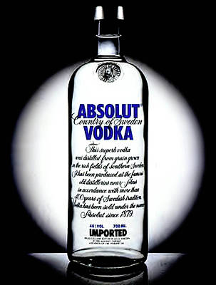 Absolut Painting - Absolut Vodka by Luis Ludzska