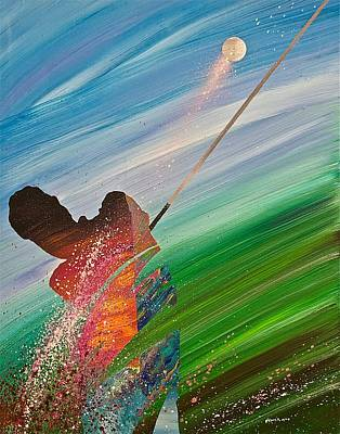 Sports Artist Painting - Abstract Golf by Douglas Fincham