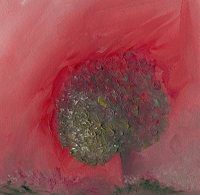 Painting - Abstract Tree Pink And Green by Michaela Kraemer