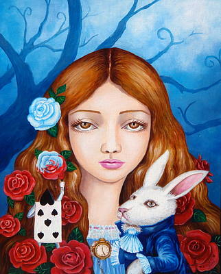 Painting - Alice And Red Roses by Edoen Kang